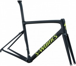 Specialized Sw Tarmac Men Sl6 Frmset, Monocoat Black/hyper Green
